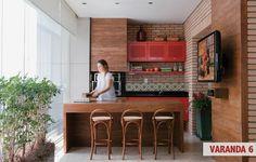 varandas de apartamentos confortáveis e cheias de flores - Casa