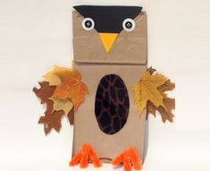 Make your own paper bag owl puppet