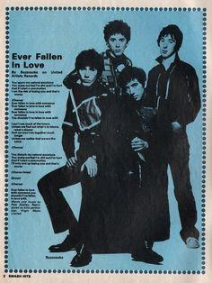Buzzcocks lyric in Smash Hits.