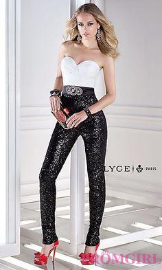 Prom Pant Suit | Black Prom Dress | Sheer Cutouts | Mac Duggal ...