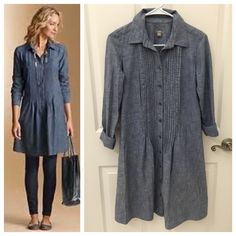 J. Jill Chambray Denim Shirt Dress J. Jill Chambray Denim Shirt Dress, Size XS (runs bigger), excellent like new condition J. Jill Dresses