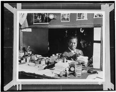 [Portrait of Louis Armstrong, Aquarium, New York, N.Y., ca. July 1946] (LOC) by The Library of Congress, via Flickr