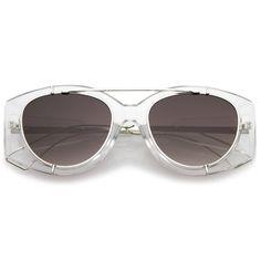 31d772ad54f Retro Modern Translucent Round Aviator Sunglasses C328