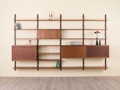 Shop for table on Etsy, the place to express your creativity through the buying and selling of handmade and vintage goods. Wall Shelves, Shelving, Teak, Mid Century Wall Unit, Mid-century Interior, Shelf System, Mid-century Modern, New Homes, Architecture