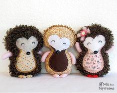 Hedgehog Sewing Pattern PDF Woodland Softie by DollsAndDaydreams, $10.00