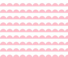 pink scallop fabric by charlottewinter on Spoonflower - custom fabric