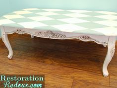 The Harlequin Table and How My Dog Nearly Killed Me - http://www.restorationredoux.com/?p=8158