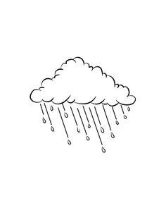 Rain Cloud wallpaper from Happywall Rain Cloud Tattoos, Rain Tattoo, Drawing Rain, Cloud Drawing, Outline Drawings, Easy Drawings, Sketch Cloud, Cloud Outline, Storm Clouds