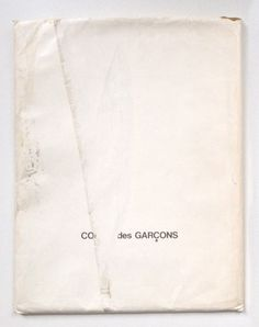 Idea Books finds the only known copy of Comme des Garçons 20 year-old furniture catalogue