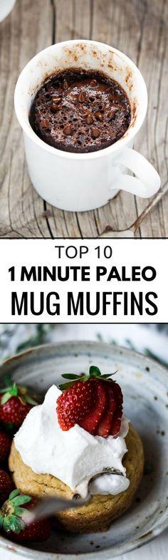 Top 10 Paleo Mug Muffin Recipe Made in 1 minute! Delicious recipe for 1 min…