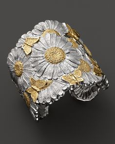 Buccellati Butterfly Daisy Hinged Cuff | Bloomingdale's