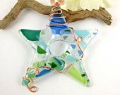 glass and wire suncatcher or ornament