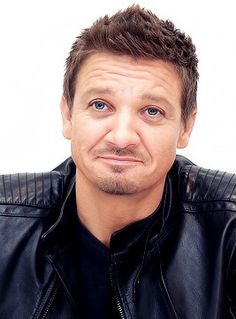 Leather +Jeremy renner aahhhhhh sigh ❤️