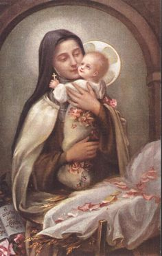 Saint Therese Holds the Infant Jesus