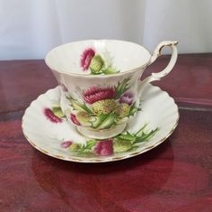 VINTAGE ROYAL ALBERT TEA CUP AND SAUCER.HIGHLAND THISTLE | Pottery & Glass, Pottery & China, China & Dinnerware | eBay!
