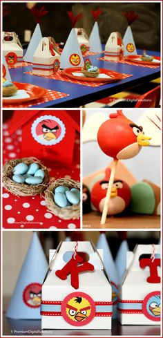 Angry Birds kids birthday party!  LOVE IT!!