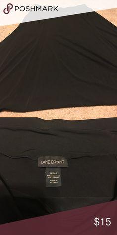 Black flowy skirt Black flowy skirt lane Bryant Lane Bryant Skirts Circle & Skater