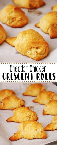 Chicken Crescent Rolls are an easy and fun dinner! Refrigerated crescent rolls f… Chicken Crescent Rolls are an easy and fun dinner! Refrigerated crescent rolls filled with chicken, cream cheese, cheddar, and ranch – yum! Chicken Crescent Rolls, Cream Cheese Crescent Rolls, Crescent Roll Appetizers, Crescent Roll Recipes, Pillsbury Crescent Recipes, Brunch Recipes, Gourmet Recipes, Appetizer Recipes, Easy Recipes
