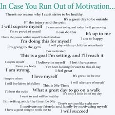 No excuses...find something on here that makes you do it and go for it.   https://www.facebook.com/solida.vaun#!/pages/Kiana-Hanna-Fitness-Living-the-Life-of-Insanity/265966823444890
