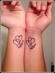 Amazing Sisters Love Tattoo Idea - 2016
