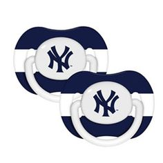 A perfect gift for our fellow Sox fans...New York Yankees Pacifier 2-Pack $9.99 http://www.fansedge.com/New-York-Yankees-Pacifier-2-Pack-_-133142504_PD.html?social=pinterest_pfid50-03320