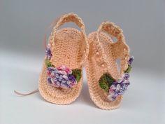 A 126 Sapatinho Croche Feminino Sandalia Bebe Enxoval Menina - R$ 22,00 no MercadoLivre