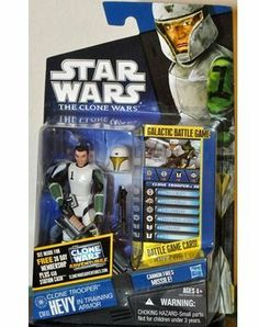 """Star Wars 2011 Clone Wars Hevy Clone Trooper In Training Armor by Hasbro - Cw No. 41 by Hasbro Toys. $9.94. Clone trooper Hevy trains for battle on Kamino. Hevy is part of Domino Squad, which is doing poorly in their training exercises. During one battle simulation, the trooper practices with a Z-6 rotary blaster cannon. He and his squad members ultimately overcome their differences to work together successfully as a team. An intergalactic battle is raging â?""""..."""