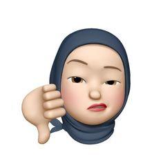 Girl Emoji, Hijab Cartoon, Emoji Stickers, Emoji Faces, Cute Doodles, Girl Hijab, Henna Designs, Homescreen, Cartoon Art
