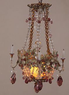 Beautiful miniature chandelier by Cilla Hallbert, Minst.com