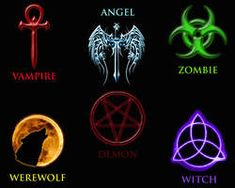 Made in Photoshop. I had a nagging to do this project, where I found the most common symbols associated with the most well known supernatural beings in . Symbols of the Supernatural Supernatural Symbols, Supernatural Tattoo, Supernatural Quotes, Supernatural Beings, Supernatural Fandom, Vampire Symbols, Magic Symbols, Demon Symbols, Egyptian Symbols