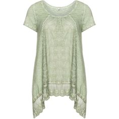 Nostalgia Green Plus Size Cotton lace t-shirt (220 BRL) ❤ liked on Polyvore featuring tops, t-shirts, green, plus size, green tee, plus size t shirts, cotton tee, green t shirt y loose t shirt