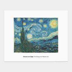 Van Gogh: The Starry Night Print | MoMAstore.org