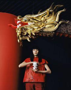 Xiao Wen Ju for Grazia China by Leslie Zhang Fashion Shoot, Editorial Fashion, Asian Love, Vogue China, Young Fashion, Harajuku Fashion, Chinese Style, Chinese Theme, China Fashion