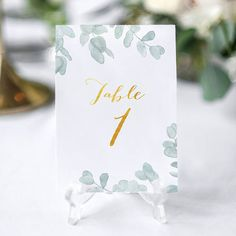Wedding table numbers Italian rustic wedding decoration
