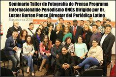Foto oficial de los participantes al Seminario Taller de Fotografía de Prensa 2014