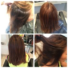 Root tint using 6.0 with 20vol with clear shines through the ends and a smooth blowdry to finish
