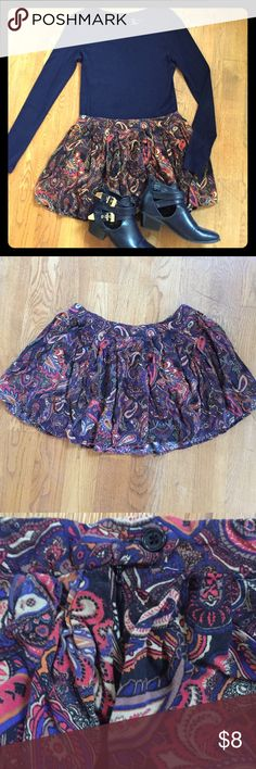 Paisley Circle Skirt This skirt is adorable! It's in great used condition with no flaws. Shoes also for sale in my closet. Comment with any questions! Mimi Chica Skirts Circle & Skater