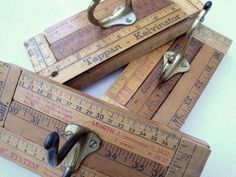 Repurposed Yardstick Art Wall Hook--I saw one as a 4-H project and it was fabulous!