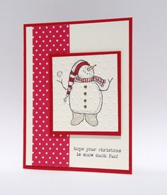 Have Snow Much Fun With This Snowman Handcrafted Christmas Card