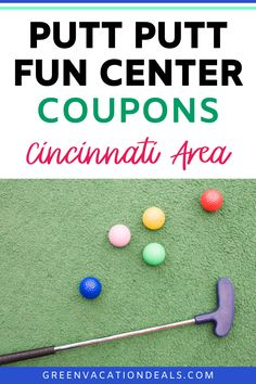 Looking for family fun activities in Cincinnati, Ohio? You'll love the Putt-Putt Fun Center in Erlanger, Kentucky! There's a 36-hole mini-golf course which is great for both beginner & experienced miniature golfers. And since it's outdoors, it's a safer way to spend time with your kids (while still being fun!). Find out how you can save up to 50% on admission! #familyfun #familyfunactivities #cincinnati #kentucky #ohio #minigolf #puttputtgolf Vacation Deals, Vacation Spots, Cincinnati Kentucky, Putt Putt Golf, Golfers, Family Activities, Best Part Of Me, Kids And Parenting, Ohio