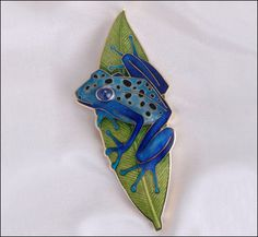Because I love frogs. Fred Rich Enamel Design