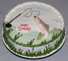 Happy Birthday Fish Cake