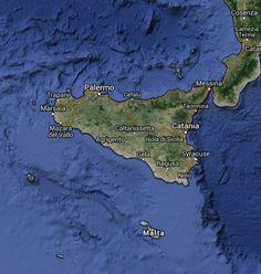 Map of Sicily - Sicilian.Net