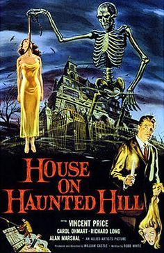 Vintage Horror Movie Poster--House on Haunted Hill