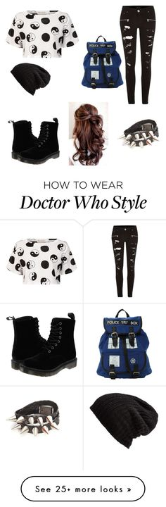 """""""cute but bad ass"""" by clough on Polyvore featuring Être Cécile, River Island, Dr. Martens and Free People"""