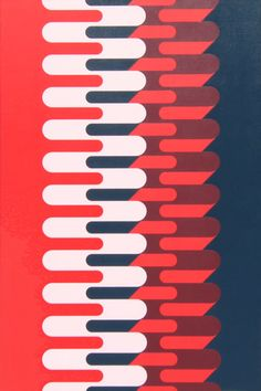 http://www.GraphicDesignNYC.net Grant Wiggins - Vertical Waveforms A, 2011, acrylic on canvas, 48 x 32 inches/122 x 81 cm