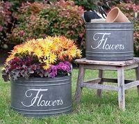 Flower Bins Set of Two