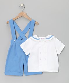 SIMI French Blue Shortalls & Button-Up - Infant, Toddler & Boys