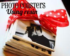 25 Best Handmade Christmas DIY Crafts - DIY for Life  Photo Coasters