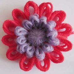 Double layer loomed flower ♥LLK♥ with instructional video.